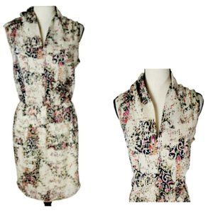 SALE 8/$35   RENEE C. SLEEVELESS FLORAL DRESS